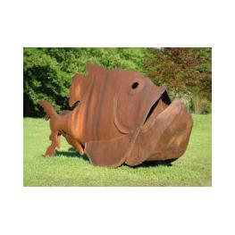 Kl-Trojanischer-Fisch600x10-Stahl- Röderer, Joachim - Magdeburg