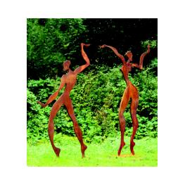Paar-Dance-195x100x30-2014-Stahl-Sperm113x30x92014-Stahl- Röderer, Joachim - Magdeburg